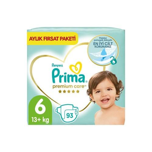 Prima Bebek Bezi Premium Care 6 Beden 93 Adet Aylık Fırsat Paketi x 2 Adet
