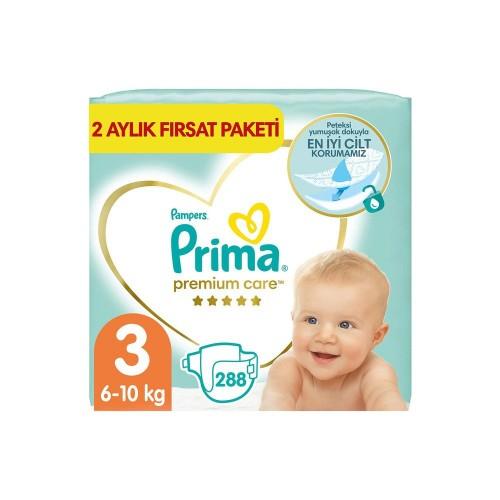 Prima Premium Care Aylık Fırsat Paketi 3 Beden 144 x 2 Adet