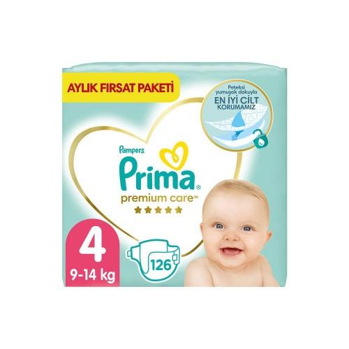 Prima Bebek Bezi Premium Care 4 Beden 126 Adet Aylık Fırsat Paketi