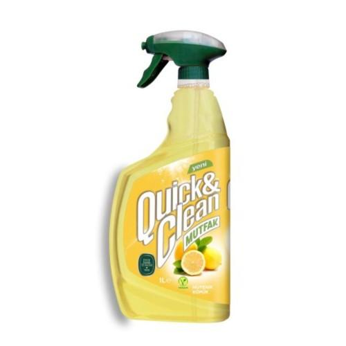 Quıck & Clean Çok Amaçlı Yüzey Temizleyici Limon Yağlı 1 lt