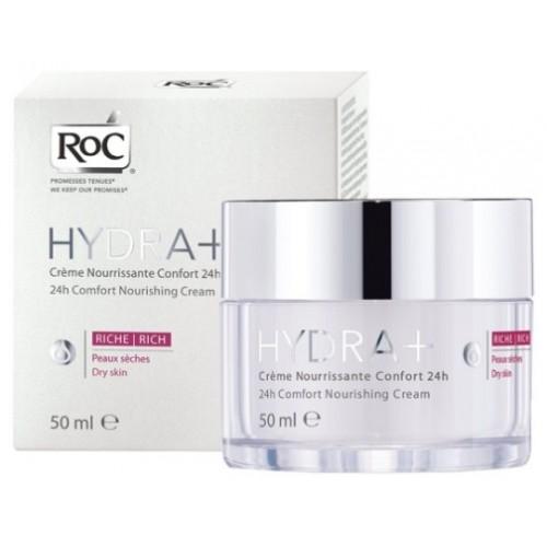 Roc Hydra+ 24H Confort Besleyici Bakım Kremi Rich 50 ml