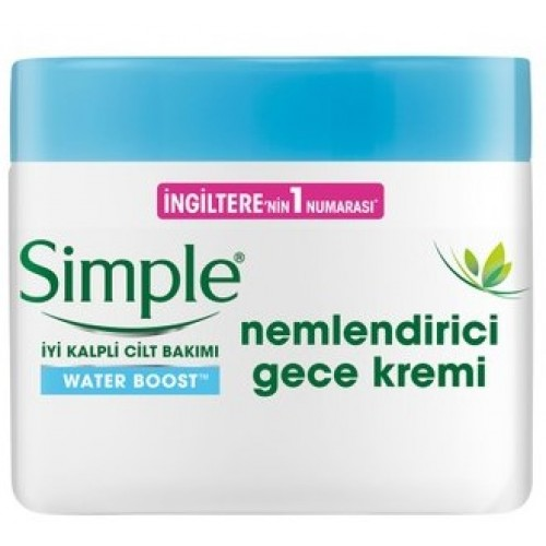 Simple Water Boost Nemlendirici Gece Kremi 50 ml x 2 Adet