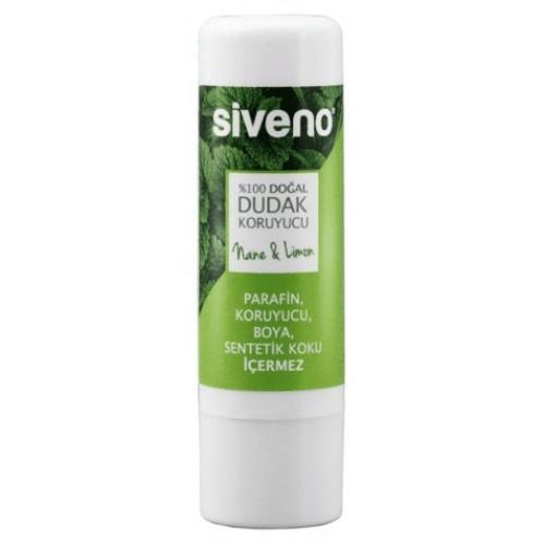 Siveno %100 Doğal Dudak Koruyucu Nane & Limon 6 gr