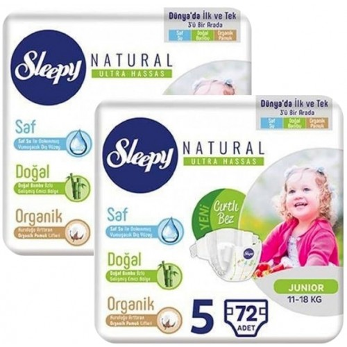 Sleepy Natural Bebek Bezi Junior 5 No 72 x 2 Adet