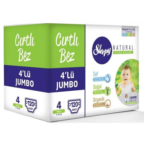 Sleepy Natural Bebek Bezi Maxi 4 No 120 li