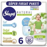 Sleepy Natural Külot Bez Mega Paket X Large 6 No 80 li