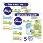 Sleepy Natural Külot Bez Mega Paket Junior 5 No 100 lü x 2 Adet