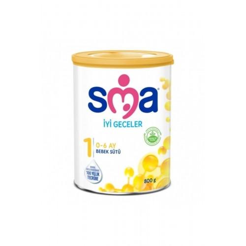 SMA İyi Geceler 1 0-6 Ay Bebek Sütü 800 gr