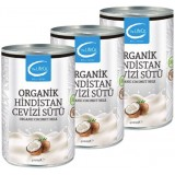 The LifeCo Organik Hindistan Cevizi Sütü 400 ml x 3 Adet
