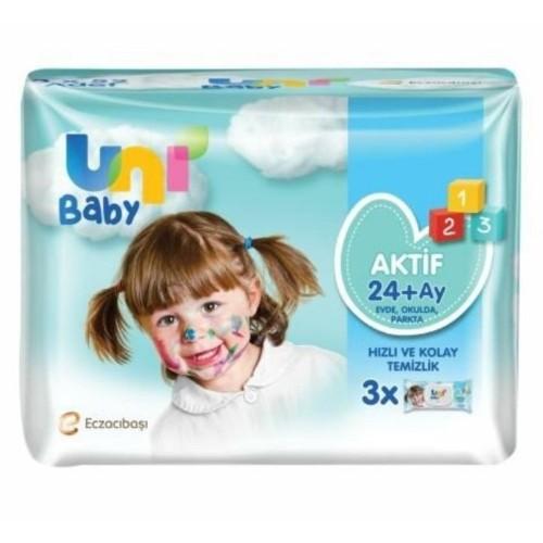Uni Baby Aktif Oyna Öğren Islak Mendil 3 lü (156 Yaprak) x 4 Adet