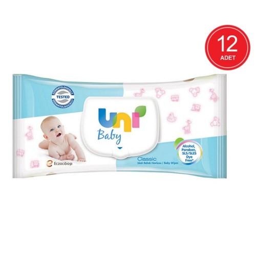 Uni Baby Classic Islak Havlu 56 lı x 12 Adet