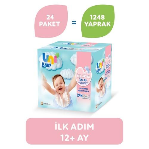 Uni Baby İlk Adım Islak Mendil 24 lü (1248 Yaprak)