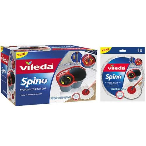 Vileda Spino Otomatik Sıkmalı Temizlik Seti + Spino Yedek Paspas