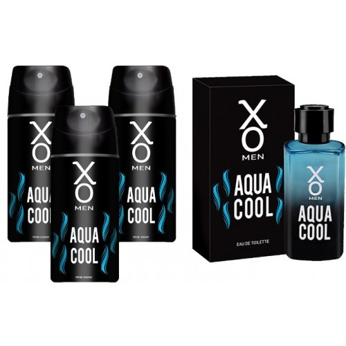 Xo Aqua Cool Men Edt Parfüm 100 ml + 3 lü Deodorant 150 ml