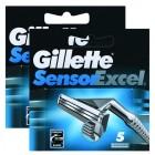 Gillette Sensor Excel Yedek Tıraş Bıçağı 5 li x 2 Adet