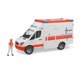 Bruder Mercedes Benz Sprinter Ambulans ve Ekibi 02536