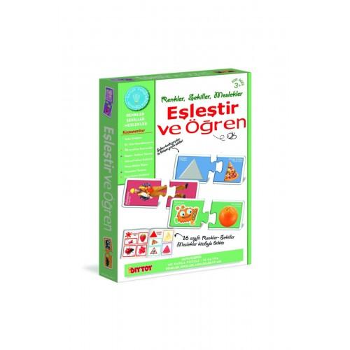 Diy-Toy Eşleştir Öğren Meslekler - Renkler - Şekiller