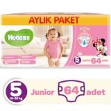 Huggies Kızım İçin Aylık Paket Bebek Bezi Junior 5 No 64 lü