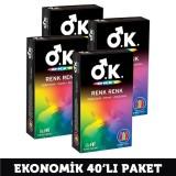 Okey Prezervatif Renk Renk 10 lu x 4 Adet
