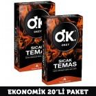 Okey Prezervatif Sıcak Temas 10 lu x 2 Adet