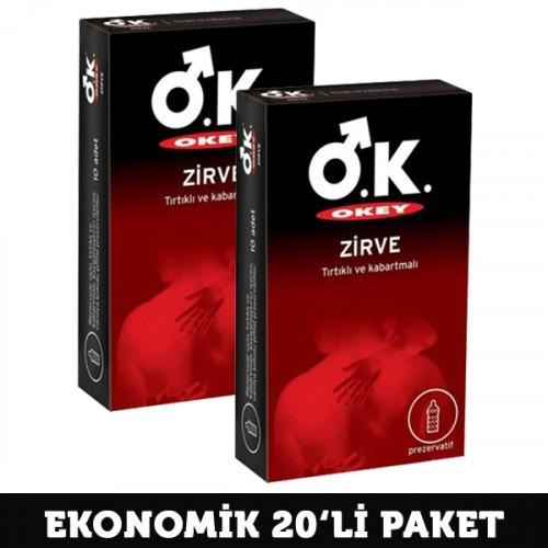 Okey Prezervatif Zirve 10 lu x 2 Adet