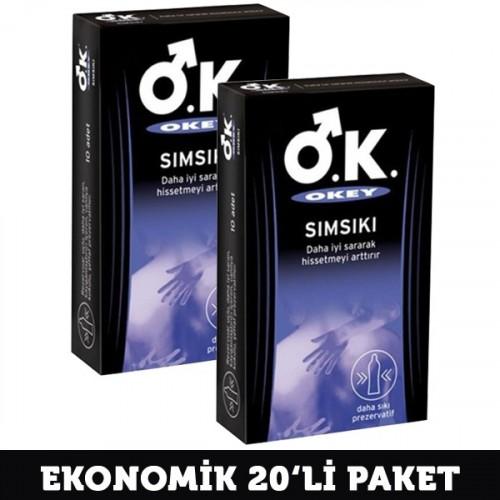 Okey Sımsıkı Prezervatif 10 lu x 2 Adet
