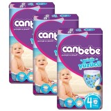 Canbebe Mayo Bebek Bezi Maxi 4 Beden 12 Adet (7-13 kg) x 3 Adet