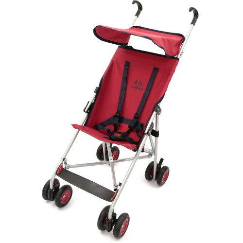 Aldeba 3020 Pratik Baston Bebek Arabası (Kırmızı)