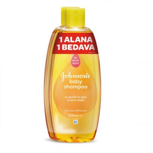 Johnsons Baby Bebek Şampuanı 500 ml + 500 ml (1 Alana 1 Bedava)