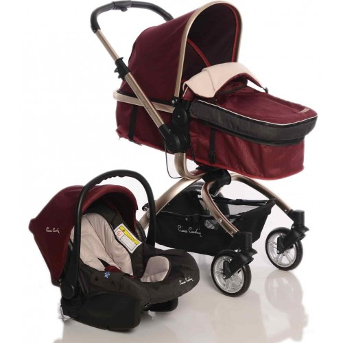 Pierre Cardin PC-405 Twist +Plus Travel Sistem Bebek Arabası (Bordo)