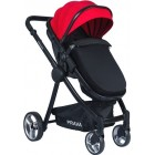 Prava P14 Travel Sistem Bebek Arabası (Siyah-Kırmızı)