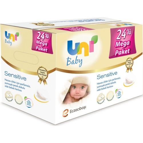Uni Baby Sensitive Islak Bebek Havlusu 24 lü Mega Paket (1344 Yaprak)