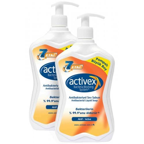 Activex Antibakteriyel Aktif Sıvı Sabun 700 ml x 2 Adet