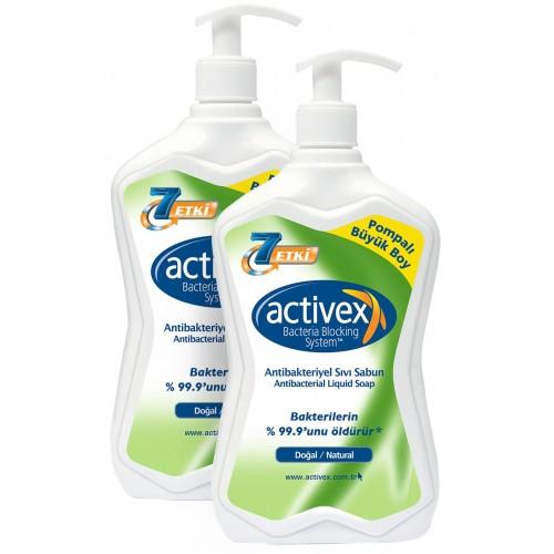 Activex Antibakteriyel Sıvı Sabun 2li set Doğal 2 x 700 ml