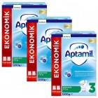 Aptamil 3 Devam Sütü Yeni Formül 1200 gr x 3 Adet