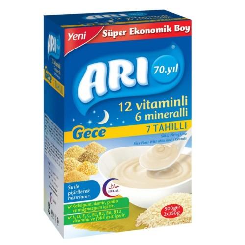 Arı Mama Sütlü 7 Tahıllı (Gece) Sütlü Pirinç Unu 500 gr