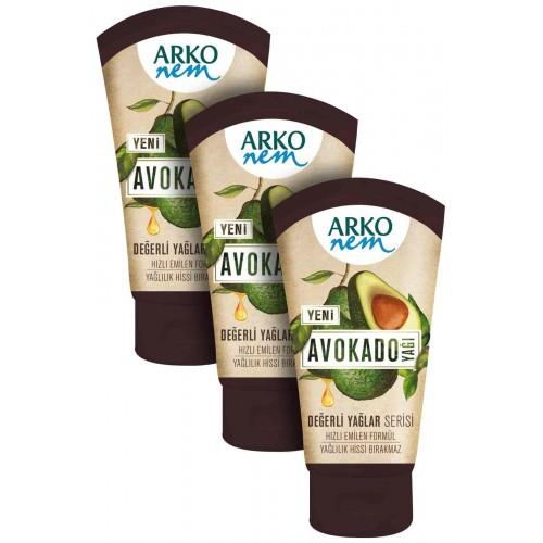 Arko Değerli Yağlar Avokado Yağı Krem 60 ml x 3 Adet