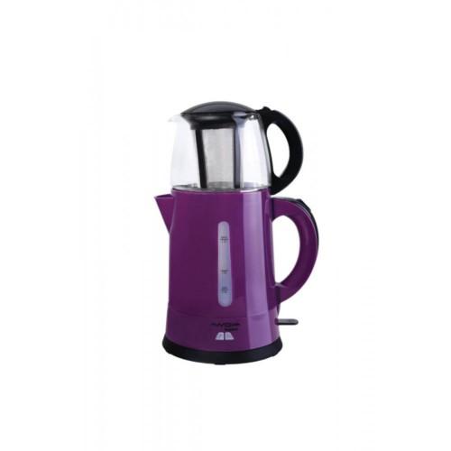 Awox Teaplus Mürdüm 2000 W Cam Demlikli Çay Makinesi