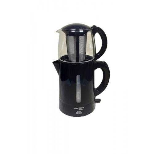 Awox Teaplus Siyah 2000 W Cam Demlikli Çay Makinesi