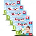 Baby Turco Bebek Bezi Junior 5 Beden 32 li x 5 Adet