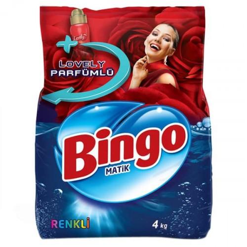 Bingo Matik Toz Çamaşır Deterjanı Renkli 4 kg