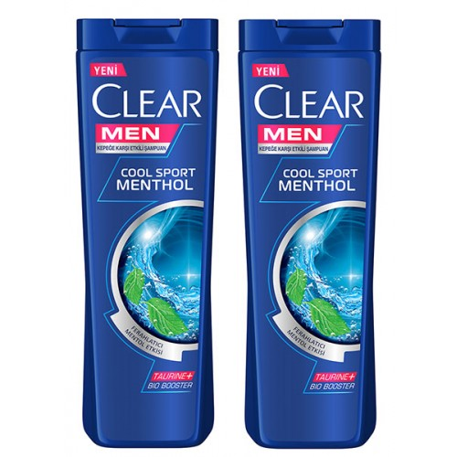 Clear Men Şampuan Cool Sport Menthol 500 ml x 2 Adet