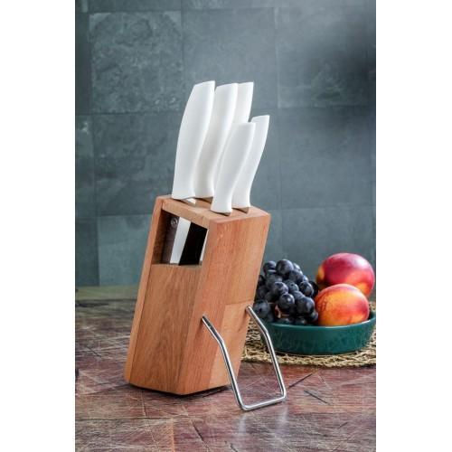 Cooker CKR2830 6 Parça Standlı Bıçak Seti - Beyaz