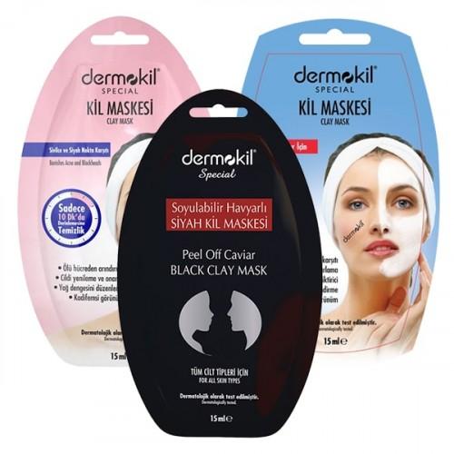 Dermokil Maske Seti 3 lü (Siyah Kil + Olgun Cilt + Sivilce Karşıtı)