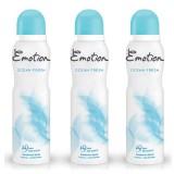 Emotion Ocean Fresh Kadın Deodorant 150 ml x 3 Adet