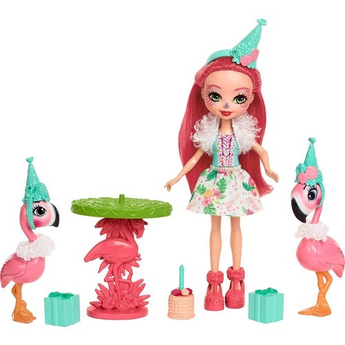 Enchantimals Bebekleri - Flamingo Partisi Oyun Seti FCG79