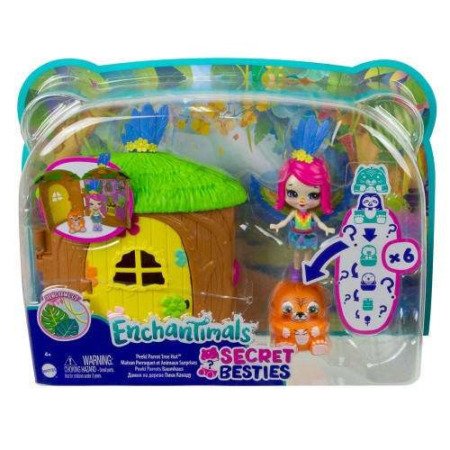 Enchantimals Secret Besties Bebek ve Ev Oyun Seti GTM46-GTM49