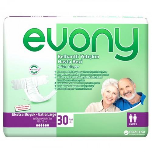 Evony Belbantlı Yetişkin Hasta Bezi Ekstra Large 30 lu