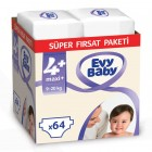 Evy Baby Bebek Bezi 4+ Beden Maxiplus Süper Fırsat Paketi 64 Adet
