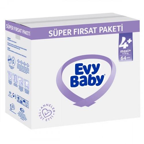 Evy Baby Bebek Bezi 4+ Beden Maxiplus Süper Fırsat Paketi 128 Adet